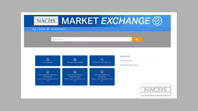 NACDS Market Exchange Screenshot